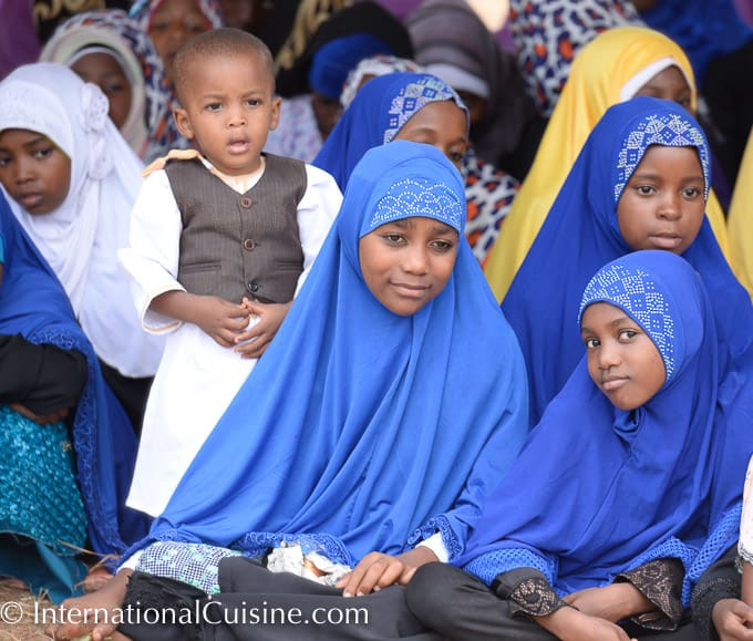 A picture of Muslim school girls in colorful veils