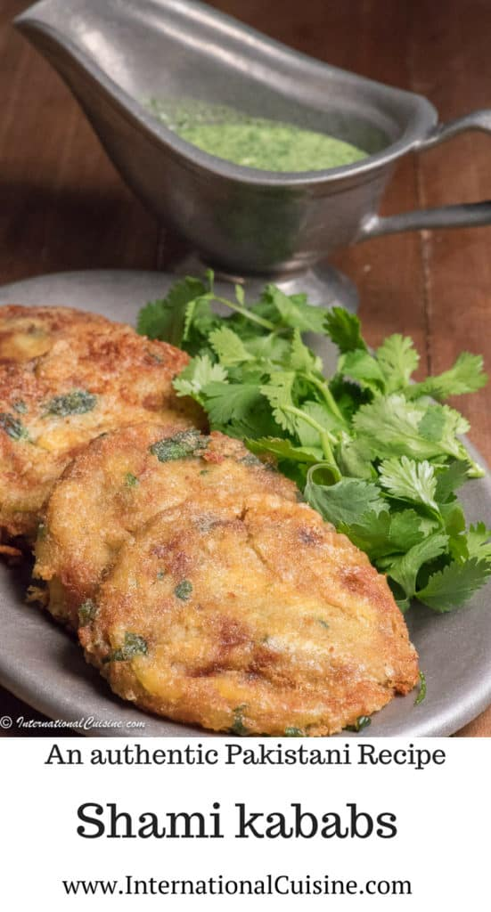a plate of shami kababs with coriander