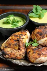 4 pieces of grilled pollo a la brasa - peruvian chicken