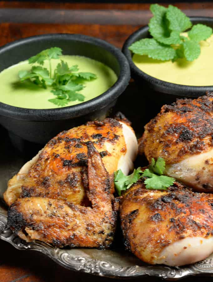 4 pieces of grilled pollo a la brasa - peruvian chicken