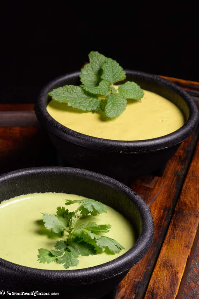 Peruvian sauces in bowls