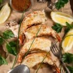 grilled lobste with butter and lemon