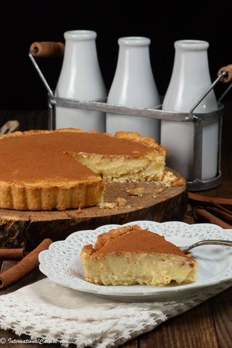 South African Melktert Milk Tart International Cuisine
