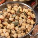 A bowl of Sri Lankan spiced chickpeas
