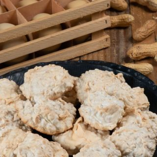 A plate full of Sudanese peanut macaroons.
