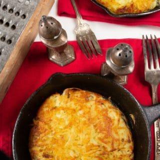 a pan full of Swiss Rosti.