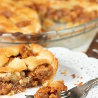 a bite of Swiss walnut pie